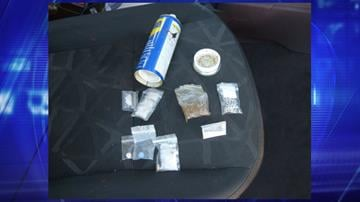 WD-40 can and contraband hidden inside at SR 90 checkpoint. By Jennifer Thomas