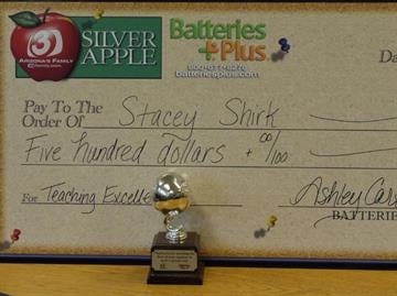 Thank you Batteries Plus for being on-hand with a big check for $500! By Ashley Carter