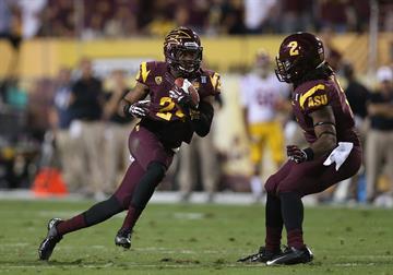 Cornerback Osahon Irabor intercepts a pass against USC (Photo by Christian Petersen/Getty Images) By Christian Petersen