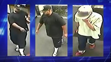 Surveillance photos of the two suspects By Jennifer Thomas