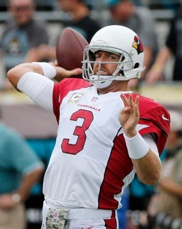 JACKSONVILLE, FL - NOVEMBER 17:  Carson Palmer #3 of the Arizona Cardinals warms before the game against the Jacksonville Jaguars at EverBank Field on November 17, 2013 in Jacksonville, Florida.  (Photo by Sam Greenwood/Getty Images) By Sam Greenwood