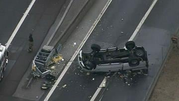 Rollover on Interstate 17 and Thomas Road By Jennifer Thomas