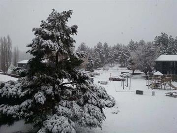 A snowy playground in Flagstaff By Christina O'Haver