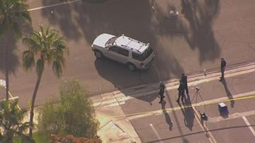 Two pedestrians were hit by a vehicle near Lakeside and Voyager drives in Gilbert. By Jennifer Thomas