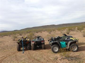 Four abandoned ATVs By Jennifer Thomas