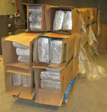 CBP officers assigned to the Port of Nogales seized nearly 1,900 pounds of marijuana from within a tractor trailer. By Jennifer Thomas
