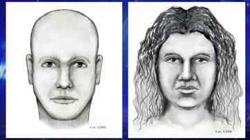 Composite sketches of a male and a female person of interest the Phoenix Police Department believes may have information concerning the homicide of a security guard. By Jennifer Thomas