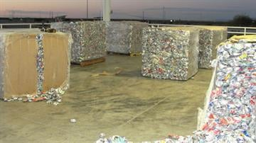 CBP officers at the Port of San Luis refer truck filled with pallets of aluminum cans after noticing something suspicious within the squares. By Jennifer Thomas