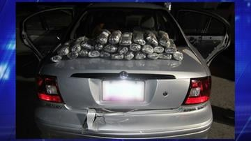 Tucson Sector Border Patrol agents  discovered 27 packages of methamphetamine between the back seat and trunk of a Mercury sedan. By Jennifer Thomas