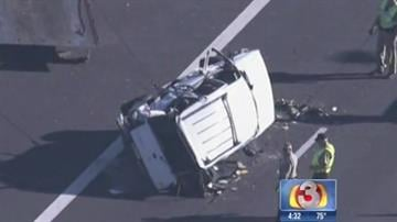A tire blowout caused a rollover crash on Interstate 10. By Jennifer Thomas