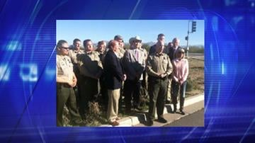Pinal County Sheriff Paul Babeu held a press conference with County Attorney Lando Voyles and State Representatives Frank Pratt, T.J. Shope and Doug Coleman on Thursday. By Catherine Holland