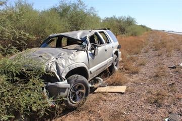 Wreck along Ironwood Road between San Tan Valley and Apache Junction By Catherine Holland