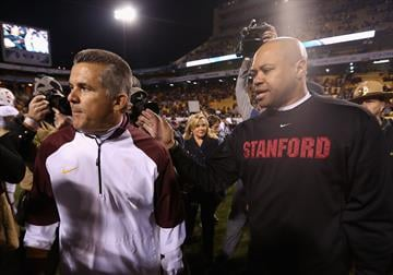 Todd Graham is trying to lead his program to the level of David Shaw's Cardinal (Photo by Christian Petersen/Getty Images) By Christian Petersen
