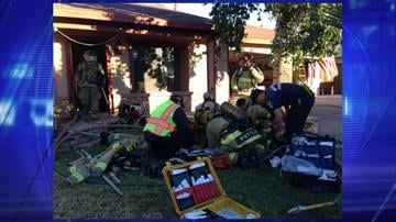 Glendale firefighters were able to save one of two dogs after a house fire. By Jennifer Thomas