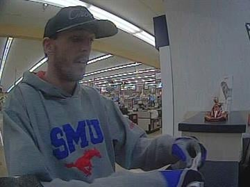 Surveillance photo of bank robbery suspect By Jennifer Thomas