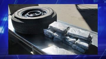 CBP officers assigned to the Port of San Luis seize 26 pounds of cocaine from within the spare tire of smuggling vehicle. By Jennifer Thomas