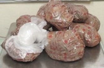 Officers at the Port of San Luis in southwestern Arizona found more than 12 pounds of methamphetamine in a Pontiac sedan. By Jennifer Thomas
