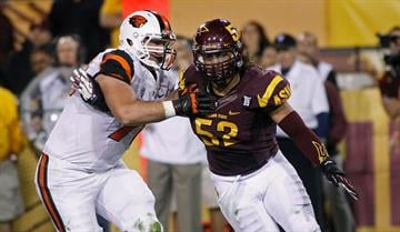 ASU fans will not get another season of watching Bradford rush off of the edge. By Ralph Freso