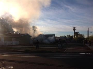 House fire near Moreland and 11th streets in Phoenix By Jennifer Thomas