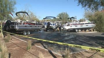 Damaged boats at Bass Pro Shops in Mesa By Jennifer Thomas