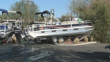 Damaged boats at Bass Pro Shops in Mesa By Jennifer Thomas
