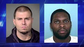 Jason Beau Keep (left) has been arrested. Police are looking for William Herbert Mayes. By Jennifer Thomas