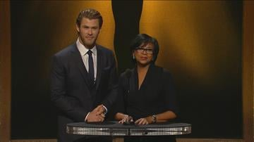 Actor Chris Hemsworth and Academy President Cheryl Boone Isaacs announced this year's Oscar nominees for Best Picture, Best Actor, Best Actress, Best Supporting Actor, Best Supporting Actress, Best Director and Best Animated Feature. By Catherine Holland