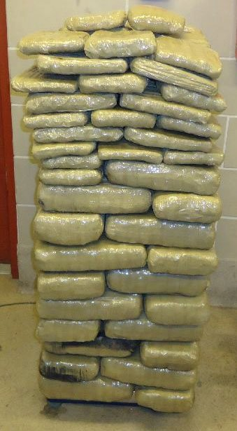 Almost 202 pounds of marijuana are seized from within a smuggling vehicle attempting to cross into the U.S. from Agua Prieta, Sonora, Mexico. By Jennifer Thomas