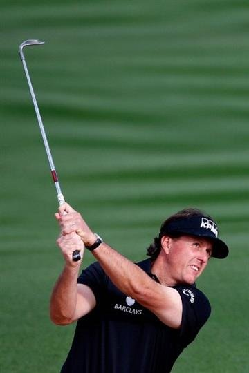 SCOTTSDALE, AZ - FEBRUARY 01:  Phil Mickelson plays a shot on the 2nd hole during the third round of the Waste Management Phoenix Open at TPC Scottsdale on February 1, 2014 in Scottsdale, Arizona.  (Photo by Sam Greenwood/Getty Images) By Sam Greenwood