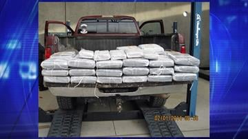 CBP officers assigned to the Port of Nogales seized nearly 267 pounds of marijuana concealed underneath a truck bed liner. By Jennifer Thomas