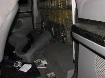 Marijuana concealed in rear cab wall of Ford F-250 By Mike Gertzman