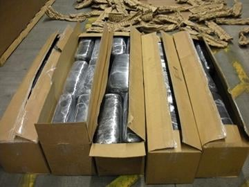 CBP officers find 22 bundles of marijuana, worth more than $196,000, in a shipment of aircraft parts. By Jennifer Thomas
