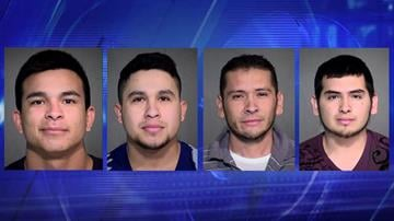 (From left) Antonio Otero-Franco, Jose Roberto Aguirre-Rodriguez, Isreal Felix-Rodriguez, Job Armando Felix-Rodriguez By Christina O'Haver