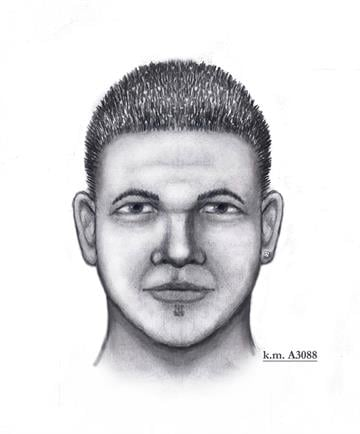 Suspect sketch in 38th Avenue incident By Christina O'Haver