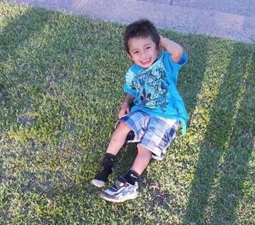 Photo of boy prior to the attack By Jennifer Thomas