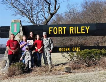 My husband and I are spending spring break in Ft Riley, Kansas to see my son and family before he deploys to Kuwait. Al, Cathy, Kristy, Lacy, Justin and Dakota By Catherine Holland