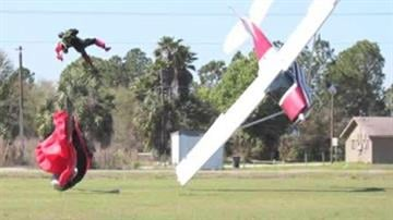 A skydiver injured when a small plane crashed into him near Tampa, Fla., says he'll jump again as soon as he feels safe. By Mike Gertzman
