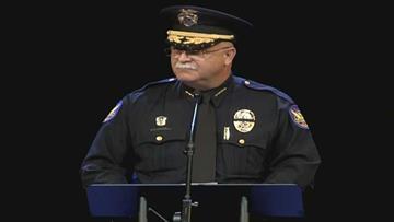 Phoenix police Chief Daniel Garcia talks about the life of Detective John Hobbs. By Jennifer Thomas