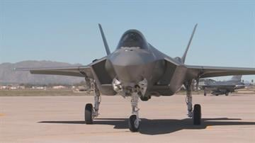 The first F-35A Lightning II aircraft arrived at Luke Air Force Base on Monday. By Mike Gertzman