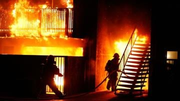 Several people were displaced after an apartment caught fire late Saturday night. By Christina O'Haver