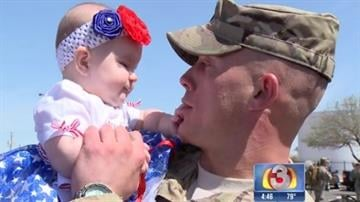 It was an emotional homecoming for 60 Arizona soldiers who returned home to their families Tuesday. By Tami Hoey