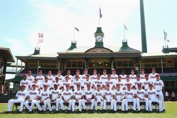 SYDNEY, AUSTRALIA - MARCH 19: The Diamondbacks pose for a team shot during an Arizona Diamondbacks MLB training session at Sydney Cricket Ground on March 19, 2014 in Sydney, Australia.  (Photo by Cameron Spencer/Getty Images) By Cameron Spencer