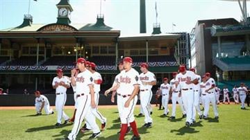 SYDNEY, AUSTRALIA - MARCH 19: Diamondback players walk onto the field during an Arizona Diamondbacks MLB training session at Sydney Cricket Ground on March 19, 2014 in Sydney, Australia. (Photo by Cameron Spencer/Getty Images) By Mike Gertzman