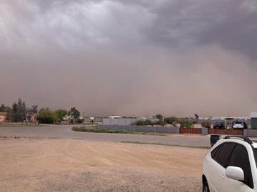 Dust storm in Casa Grande By Jennifer Thomas