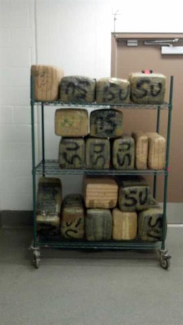 Border Patrol agents seized $176,000 worth of marijuana near Gila Bend on Monday. By Jennifer Thomas
