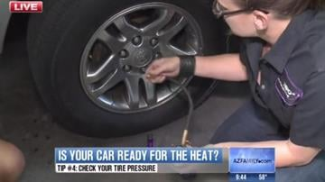 Check your tire pressure. It changes as air expands and contracts with the air temperature.  (Warm air expands; cold air contracts.) Driving on tires that are not properly inflated can be dangerous and adversely affect your car. By Catherine Holland