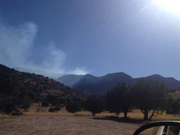 Brown Fire on April 13. By Jennifer Thomas
