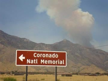 The Brown Fire was at about 100 acres on April 14. By Jennifer Thomas