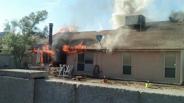 House fire started by burning weeds By Jennifer Thomas