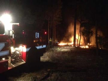 Wildland fire south of the Coconino County Fairgrounds By Jennifer Thomas